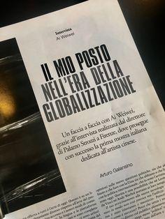 Su Art e Dossier di dicembre un'intervista a Ai Weiwei, direttore di Palazzo Strozzi.