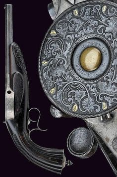 An extremely scarce Genhart Turret revolver, Belgium, 3rd quarter of the 19th century.
