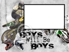 8x6 Boys Will Be Boys Motocross Inspired by SapphireCustomPhotos, $10.00