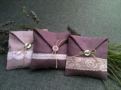 sachets de lavande pink for rose green for balsam