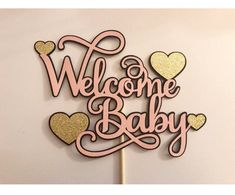 Welcome Baby Topper Glitter Cake, Glitter Cardstock, Glitter Gender Reveal, Welcome Baby, Reveal Parties, Krystal, Party Gifts, Cupcake Toppers, Snowflakes