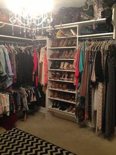 Small bedroom converted into a closet !