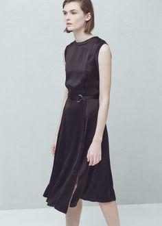 Φόρεμα γυαλιστερή ζώνη | MANGO ΜΑΝΓΚΟ