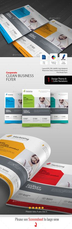 #Business #Flyer - Flyers Print Templates Download here: https://graphicriver.net/item/business-flyer/19735620?ref=alena994