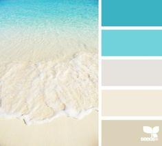 Design Seeds, for all who love color. Apple Yarns uses Design Seeds for color inspiration for knitting and crochet projects. Design Seeds, Colour Schemes, Color Combos, Colour Palettes, Beach Color Schemes, Beach Wedding Colour Scheme, Ocean Color Palette, Paint Combinations, Palette Design