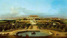 The Schloss Hof, Garden Side - Bernardo Bellotto