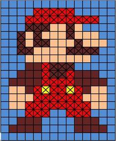 WIP: Crochet Mario Bros. Blanket myidlelittlehands.blogspot.com