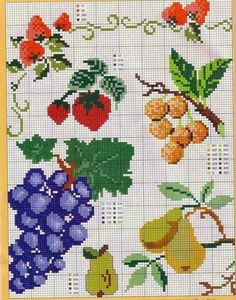 Thrilling Designing Your Own Cross Stitch Embroidery Patterns Ideas. Exhilarating Designing Your Own Cross Stitch Embroidery Patterns Ideas. Cross Stitch Fruit, Cross Stitch Boards, Cross Stitch Kitchen, Cross Stitching, Cross Stitch Embroidery, Embroidery Patterns, Cross Stitch Patterns, Diy Broderie, Needlepoint