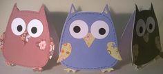 Sizzix owl. / Pöllökortteja.