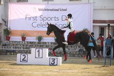 Horse Riding in sports event at Tula's International School, Dehradun, Uttarakhand, India