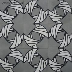 Cement Tile Shop - Handmade Cement Tile | Guillermo & Tania Collection - Armor Tissue 1A. Call (800) 704-2701 for more information.