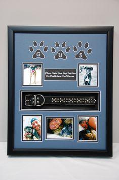 """16"""" x 20"""" Dog Memorial Shadow Box  R.I.P. """"Gus""""...mans best friend."""