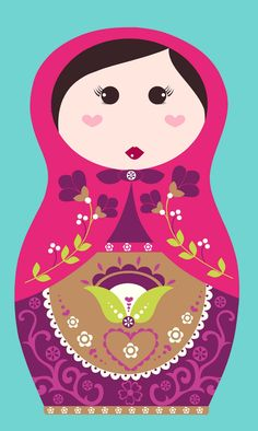 All about surface pattern ,textiles and graphics: Russian Dolls