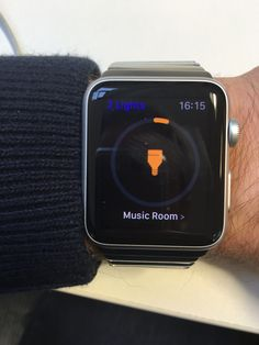 Apple watch controlling connected lights at home Apple Watch, Fitbit, Connection, Internet, Lights, Lighting, Rope Lighting, Candles, Lanterns