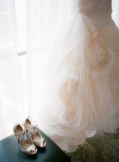 vera wang flange dress  from DC Garden Wedding at Fairmont Hotel | Photo: Hannah Hudson Photography