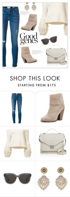 """""""Untitled #1387"""" by christinacastro830 ❤ liked on Polyvore featuring Frame, rag & bone, Loeffler Randall, Gentle Monster and Miguel Ases"""