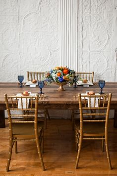 Mediterranean Inspired Orange & Blue Wedding Ideas