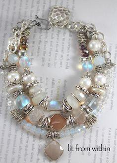 ON SALE bracelet rainbow moonstone bracelet by soulfuledges Bohemian Bracelets, Love Bracelets, Jewelry Bracelets, Diy Jewelry Tutorials, Jewelry Ideas, Jewelry Accessories, Bead Crafts, Diy Crafts, Money Makers