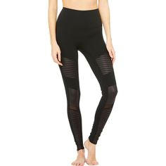 Alo Yoga - High-Waist Moto Legging - Women's - Black/Black Glossy