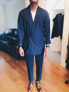Official MEN Kimono/Noragi Thread - Page 15 « Kanye West Forum Kanye West, Casual Chic, Men Casual, Mode Kimono, Kimono Fashion, Look Cool, Swagg, Street Wear, Menswear