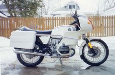 This beautiful motorcycle is a 1978 BMW motorsport model.