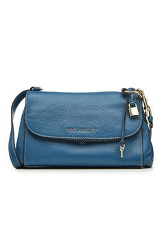 Marc Jacobs Boho Grind Leather Cross-body Bag In Vintage Blue Best Designer Bags, Bago, Blue Fashion, Leather Crossbody Bag, Fashion Forward, Shoulder Strap, Marc Jacobs, Product Launch, Blue Style