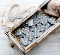 polka dots heart magnets by HandyHappyHearts via Etsy