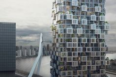 MVRDV Wins Competition for Bay-Window-Inspired Mixed-Use Towers in Rotterdam,© WAX Architectural Visualisations