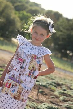 Sleeveless Peasant Dress Tutorial Who's That Girl by Izak Zenou for Robert Kaufman