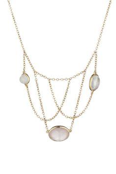 Venta Maty / 17903 / Collares y Colgantes / Oro, Piedras Preciosas y Semipreciosas / Collar - Oro Amarillo, Piedras de Luna y Cristal de Roca