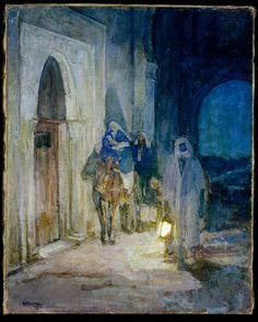 Henry Ossawa Tanner (American, Pittsburgh, Pennsylvania 1859–1937) Flight Into Egypt, 1923. Oil on canvas, 29 x 26 in. Metropolitan Museum of Art, New York.