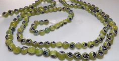Evil eye beads abstract green beads beading by beaderbeads on Etsy, $2.50