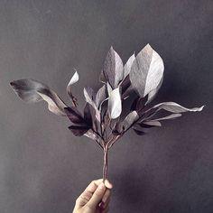 Warm grey leaves foliage. #paperfoliage #papercraft #paperart #paperleaves #dsfloral #craftsposure #makersmovement #monochrome #paperflowers #bostonflorist #ohwowyes  #boston #makersgonnamake #makersbiz #larsflowers #paperbouquet