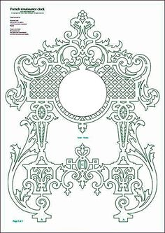 Odnoklassniki Damask Stencil, Stencil Art, Stencil Designs, Thermocol Craft, Diy And Crafts, Arts And Crafts, French Pattern, Scroll Saw Patterns, Laser Cut Wood