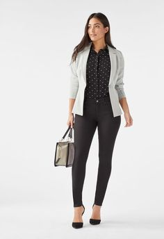 Successful In Spots Outfit Bundle in - Get great deals at JustFab Job Interview Outfits For Women, Office Outfits Women, Business Casual Outfits For Women, Business Casual Attire, Casual Work Outfits, Professional Outfits, Work Casual, Work Attire, Plus Size Business Attire