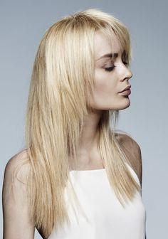 Cheveux longs et lisses dégradés de Maniatis