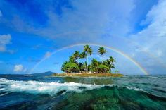 A double rainbow. What dose it mean? World Thinking Day, Love Rainbow, Guam, Tahiti, Beach Resorts, Science Nature, Beautiful Images, Adventure Travel, Travel Inspiration