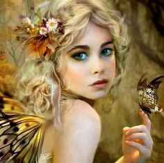 Elves Faeries Gnomes: A lovely butterfly Faerie. Fantasy Girl, Chica Fantasy, Fantasy Women, Elves Fantasy, Fantasy Romance, Fairy Dust, Fairy Land, Fairy Tales, Butterfly Drawing