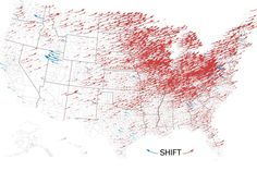 """NYT Politics su Twitter: """"Here's how the election map changed between 2012 and yesterday: https://t.co/ZtsRfXvxFr https://t.co/LmhiYNx9UO"""""""