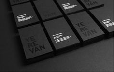 Yerevan Dilanchian - Personal Branding This branding series is encouraging in that the designer is unapologetic and bold in his taste and aesthetic. A consistent use of black contrasted against juxtaposing textures / geometric shapes sets this designer apart and begs attention from its viewer.