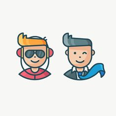 Freelance x Corporate Worker #icon #illustration #outline #freelance #corporate #character #avatar #person #people #headphones #glasses #sunglasses #tie #suit #wink #outlineicon #iconography #icondesign #design #art #vector #thedesigntip #bestvector #picame #graphicdesignblg