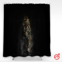 Tiger in the dark Shower Curtain #decorative #bathroom #curtain #gift #present #favorite