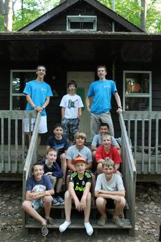 Cabin Group at Camp Kitchi Baby Strollers, Camping, Group, Children, Summer, Campsite, Kids, Summer Recipes, Verano