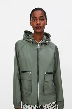 d619c8ee Image 2 of ZIPPERED RAINCOAT from Zara Jackets For Women, Women's Jackets,  Outerwear Women