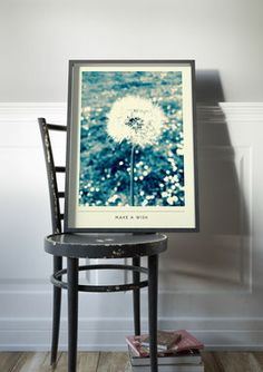 poster vintage design retro flower