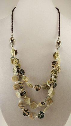 Estate multi strand shell boho Necklace