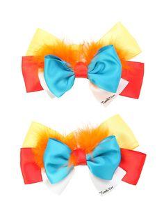 Disney Alice In Wonderland Tweedledee & Tweedledum Cosplay Hair Bow 2 Pack,