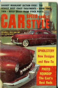 Car Speed and Style Magazine Jan 1959 hot rod Barris Merc upholstery custom