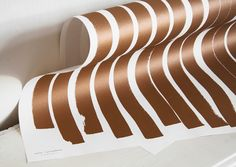WRAPPING PAPER no.01 - lines copper Design Studio, Designer, Wrapping, Wraps, Abstract, Artwork, Paper, Coats, Work Of Art