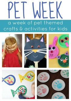 Week {Week of Playful Learning Activities} Toddler Approved!: Pet Week {Week of Playful Learning Activities}Toddler Approved!: Pet Week {Week of Playful Learning Activities} Preschool Themes, Craft Activities For Kids, Learning Activities, Preschool Activities, Crafts For Kids, Daycare Themes, Pet Games For Kids, Easy Crafts, Dog Crafts